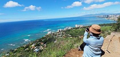 夏威夷 Diamond Head .登上鑽石頭山一覽檀香山風情