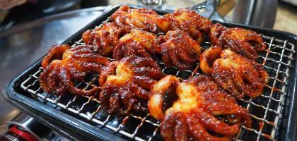 釜山|喜兒家烤小章魚희야네석쇠쭈꾸미.平價好吃的西面站熱門美食