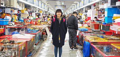 釜山|札嘎其海鮮市場 자갈치시장.不會韓文小心被騙