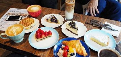 藍白小鎮天母店:媽阿!這裡的甜點也太好吃了吧!難怪大客滿