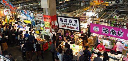 下關唐戶市場|假日限定的海鮮屋台.上百攤便宜壽司大口吃