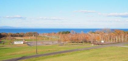 北海道|八雲PA休息站,超大遊戲區,海天一線風景休息好自在