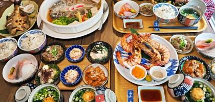 天母超浮誇的午間限量定食和無菜單料理–金龍山海旬味