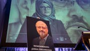 The murdered Saudi journalist and the Washington Post journalist, Jamal Khashoggi, is commemorating a bishop in Washington on Friday, while his bride, Hatice Cengiz, speaks of a video. (Photo: J. Scott Applewhite / AP)