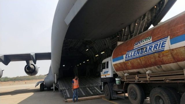 Nine Empty Oxygen Tankers Airlifted To Odisha From Hyderabad