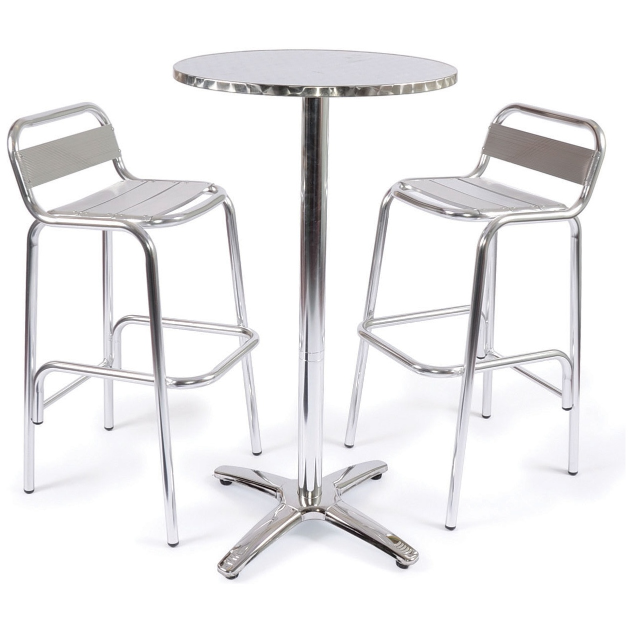 Aluminium Tall Bistro Set Outdoor Tables Chairs