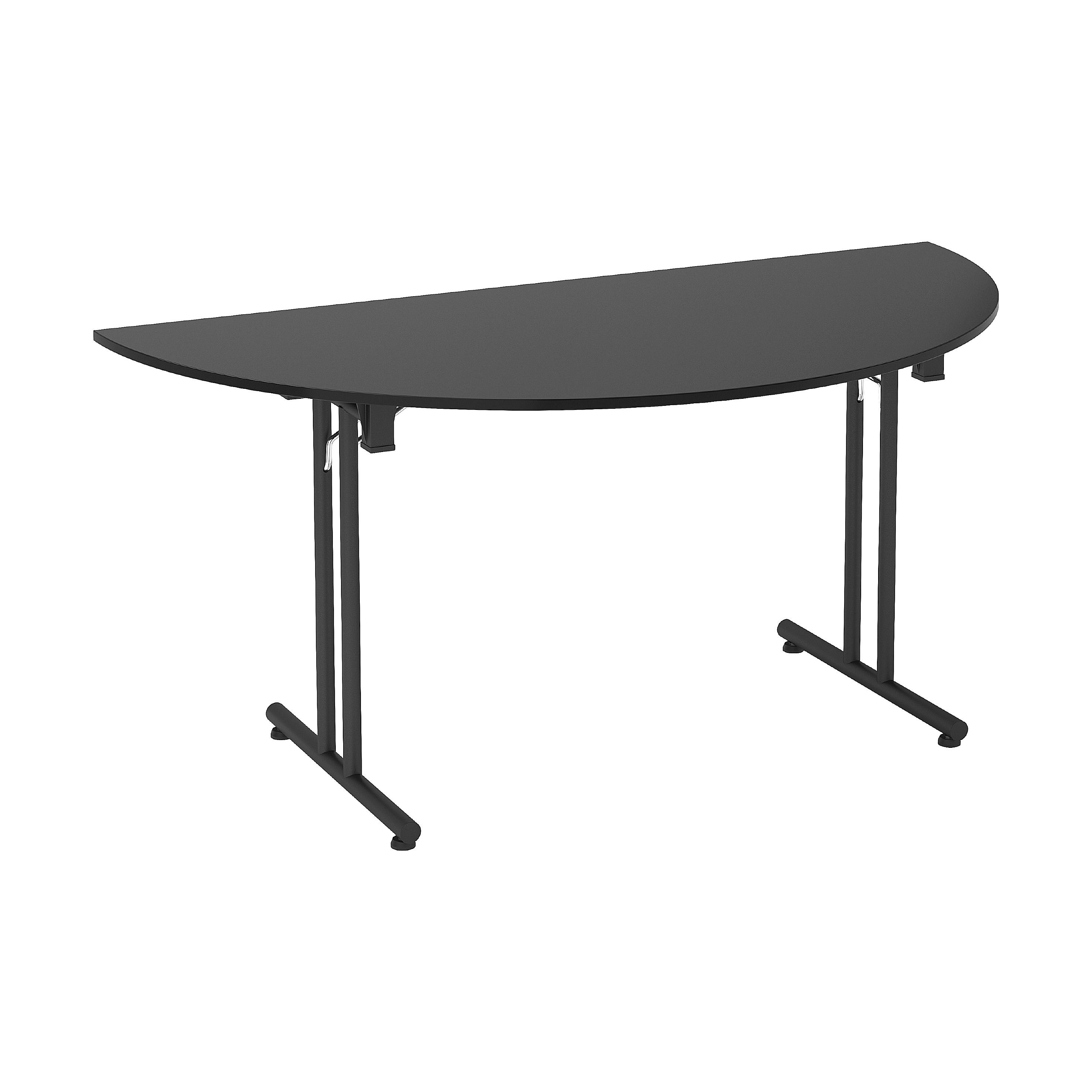 next day noir semi circular folding tables folding tables on Circular Folding Dining Table id=21056