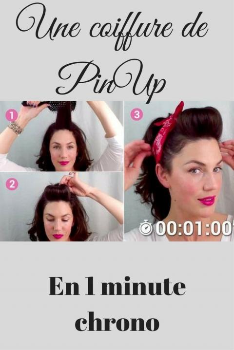 coiffure pin up