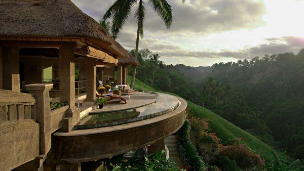 Villa Viceroy, Ubud, Bali yang memiliki pemandangan indah (Foto: homedsgn)