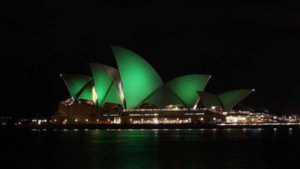 Opera House Sydney yang akan menghijau Maret nanti (Foto: Telegraph)