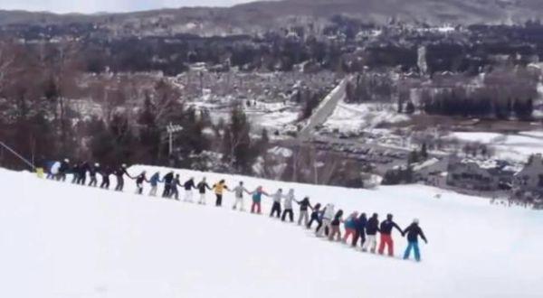 Pemecahan rekor ski (Foto: Youtube)