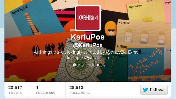 Akun @KartuPos, tempat sharing sesama traveler (Foto: twitter)