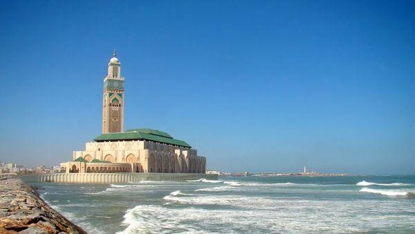 Masjid Hassan II di Casablanca, Maroko (Foto: Wikipedia)