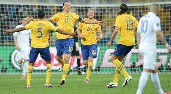 Selebrasi gol Zlatan Ibrahimovic (Foto: Daylife)