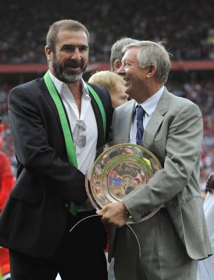 Eric Cantona dan Sir Alex Ferguson (foto: Reuters)