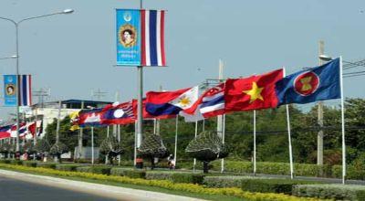 Foto : bendera negara ASEAN (IST)
