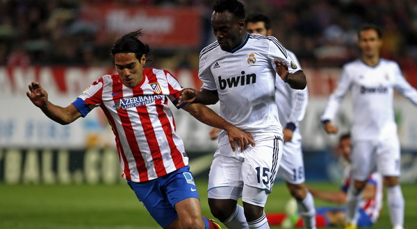 Jalannya pertandingan Atletico Madrid vs Real Madrid (Foto: Reuters)