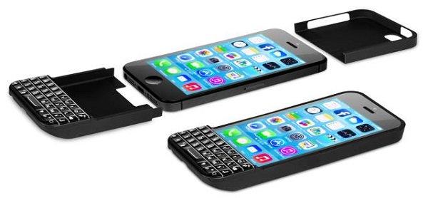 sebuah aksesoris keypad tersebut sebenarnya merupakan soft case untuk iphone namun memiliki fitur tambahan yang menyediakan fisik