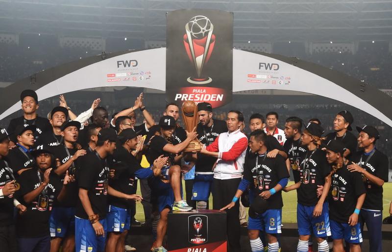 Persib Juara Piala Presiden (Foto: ANTARA/Nova Wahyudi)