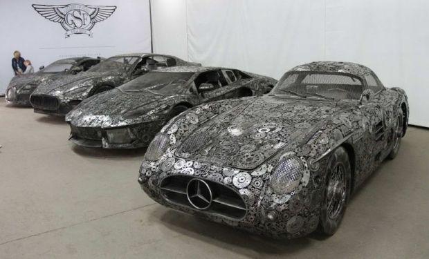 Mobil Lamborghini, Bugatti, & Mercy Ini Dibuat dari Besi Bekas