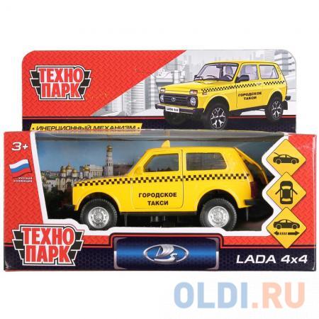 Машинка ТЕХНОПАРК LADA 4x4 Такси желтый LADA4X4-T — купить ...