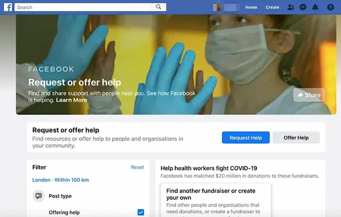 Facebook cria recurso que permite pedir ou oferecer ajuda aos vizinhos