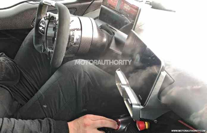 Espaço interno do Mercedes-AMG One