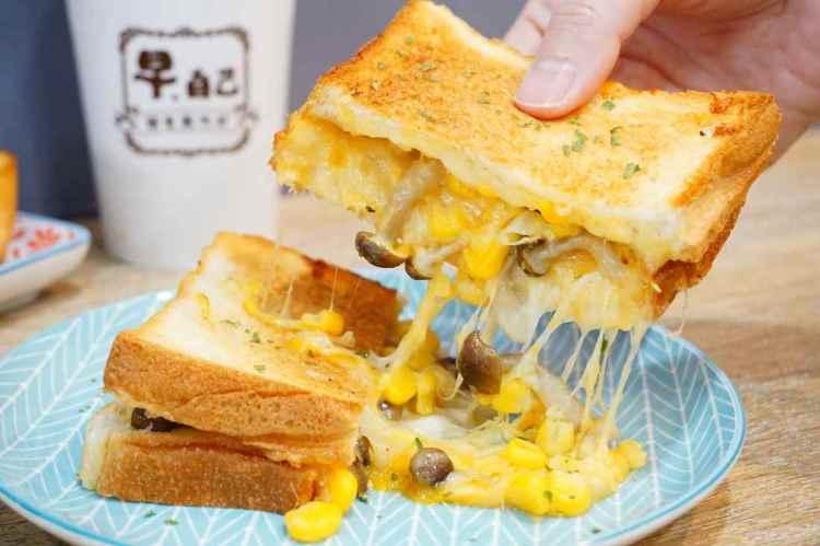 """【新北土城早午餐】早。自己-土城店    手作麵包早餐""""拔絲熱壓土司"""