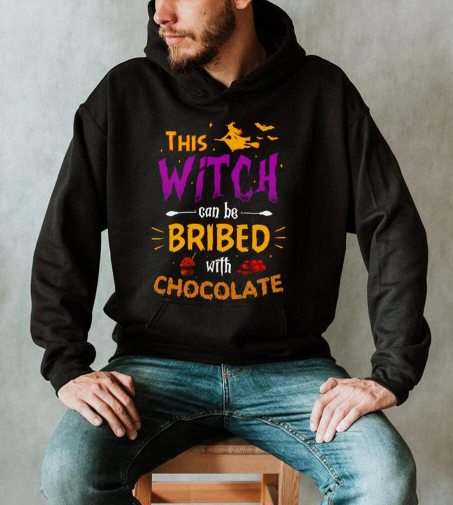 This Witch Can Be Bribed With Chocolate Halloween T shirt