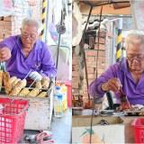 二崙阿公烤玉米_雲林美食:隱藏鄉間60年老攤/87歲阿公炭烤玉米 獨門紅色秘醬排隊也甘願