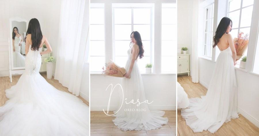 台北Diosa手工婚紗|陪同姊妹試穿婚紗紀錄&租旅行輕婚紗出國拍照方案~
