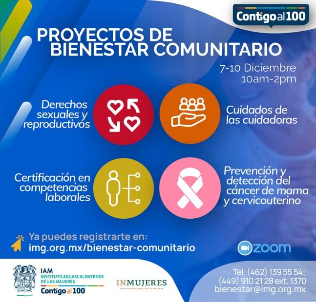 Proyecto de Bienestar Comunitario - Instituto Aguascalentense de las Mujeres