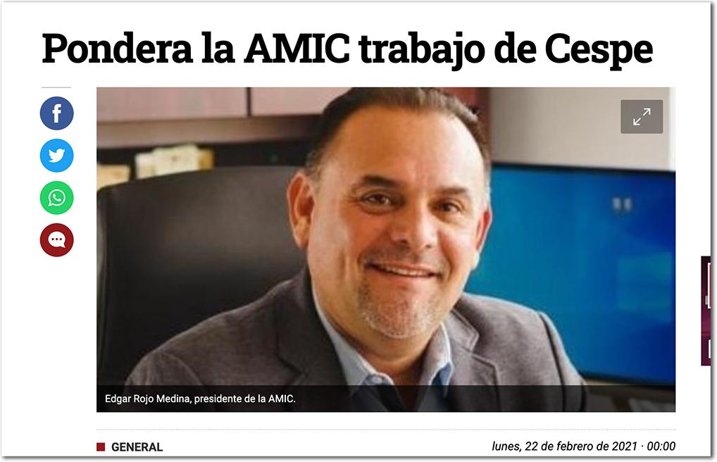 Pondera la AMIC trabajo de Cespe CEG 153 - Centro de Evaluación del Instituto Mejores Gobernantes