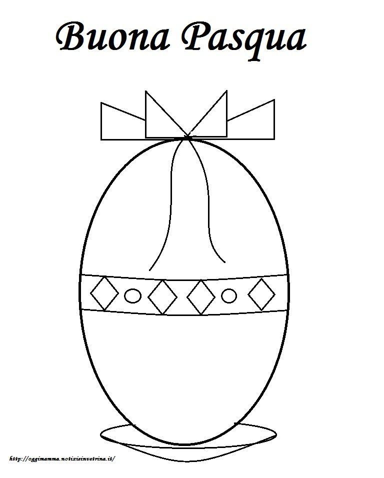 Bianco E Nero Uovo Di Pasqua Poster Libro Da Colorare