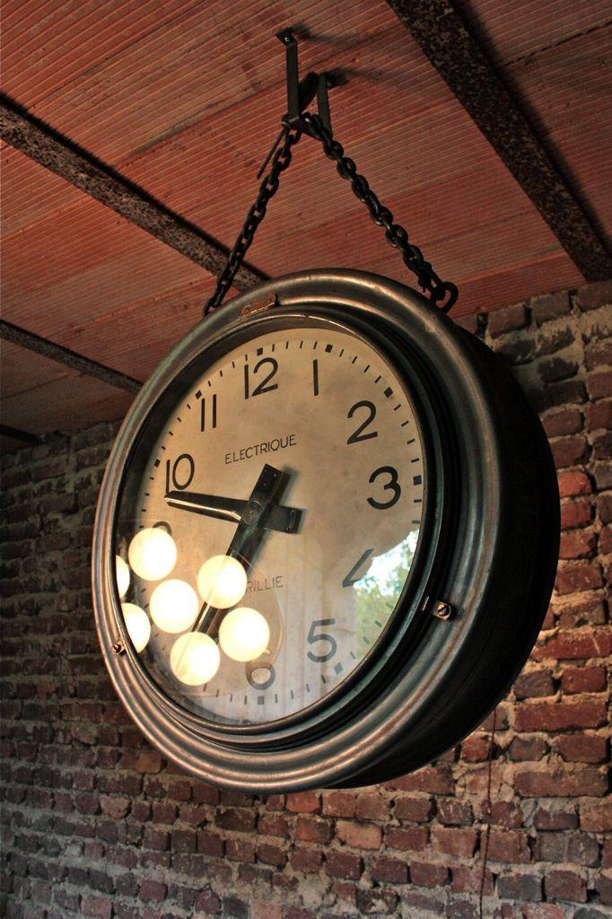 Horloge Industrielle Vendu Wwwlesnouveauxbrocanteurs