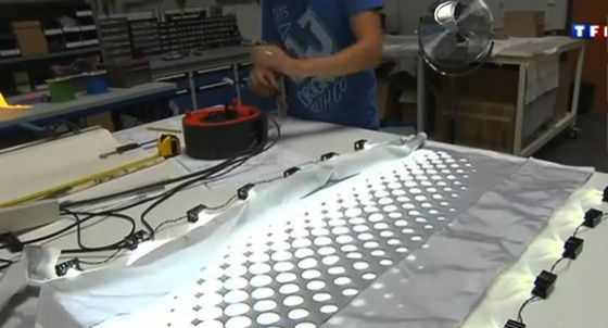 décoration fibre optique