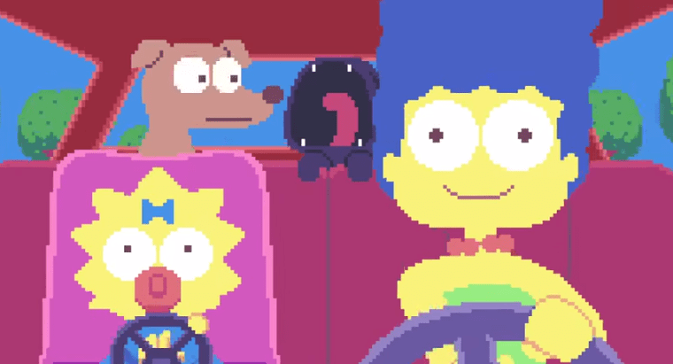 les Simpsons en pixel art [opening]