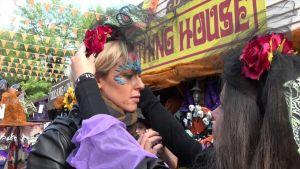 Federica Pellegrini festeggia Halloween a Gardaland