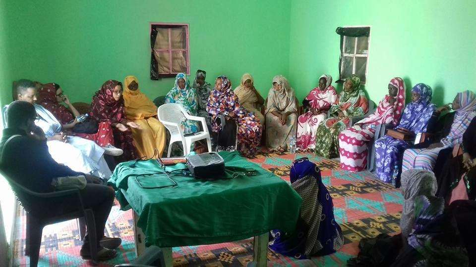 Séance « Voix des femmes » du 20 mars 2016 dans la commune de Dar Naim (Nouakchott) – Projection du court-métrage « Femmes d'exception », du jeune vidéaste mauritanien Linc Chevie.