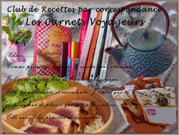Les carnets voyageurs - Livres de recettes par correspondance