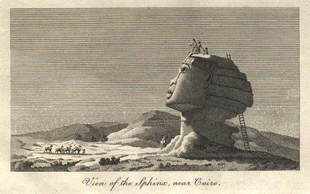 The sphinx, seen before his disfigurement