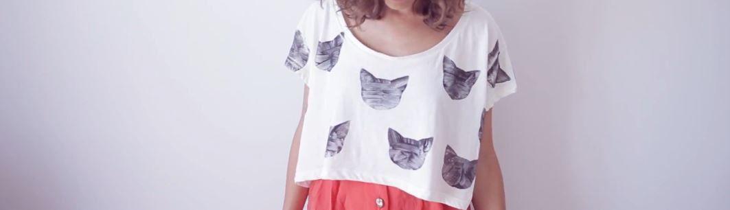DIY- T-shirt imprimé chat!