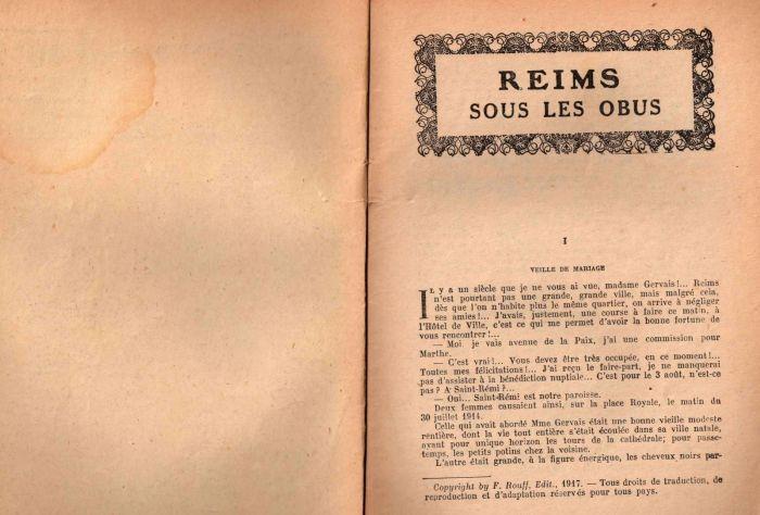 """Reims sous les Obus - """"Collection Patrie"""" n° 22"""