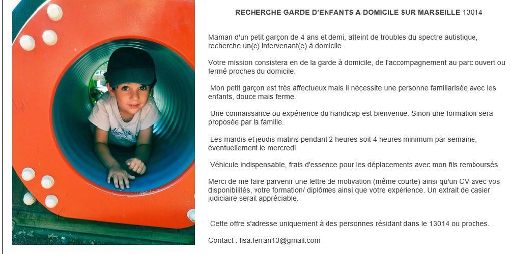 recherche garde d enfants sur marseille 13014