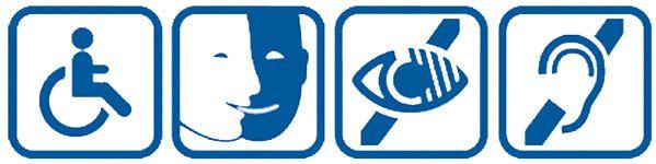 logos accessibilité handicap