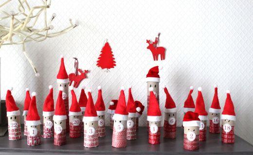 Calendrier de l'avent Pères Noël