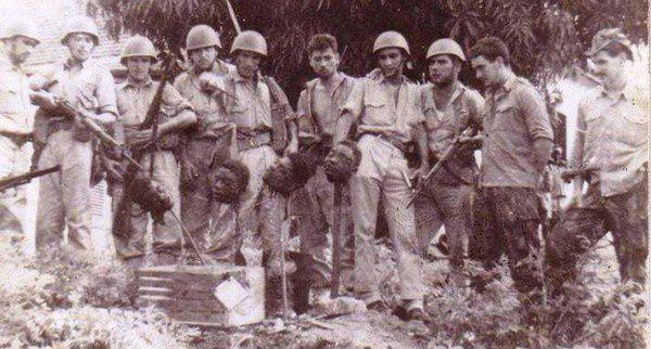 Décapitations des combattants de la résistance camerounaise par l'armée coloniale française lors de la guerre d'indépendance (1956-1971)