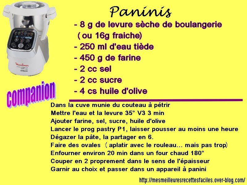 recette de paninis maison au companion