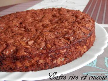 Défi culinaire # 9 - Gâteau au Chocolat, aux Yaourts et à la Noisette {sans sucre, sans beurre}