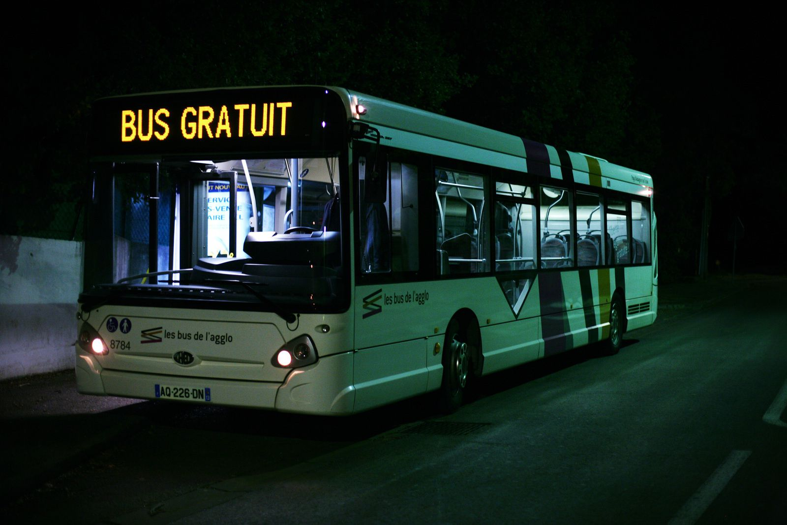 Bus gratuit à Aubagne (France). Photo : Audrey Cerdan / Rue89